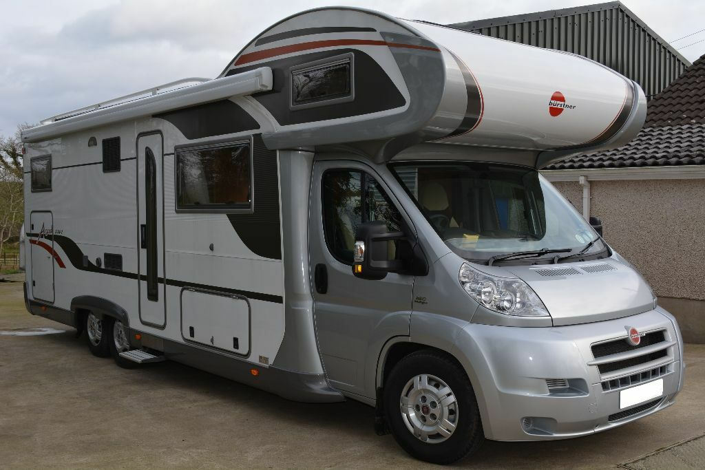 2009 burstner 748 argos motorhome with large garage in for Garage motorhome
