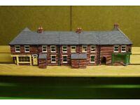 oo gauge scaledale houses 2 corner shops 3 terrace houses