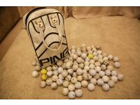 134 Practice Balls -Comes with 'Ping' Carry Bag