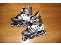 'No Fear' Roller Blades/In-line skates adjustable size 1-4