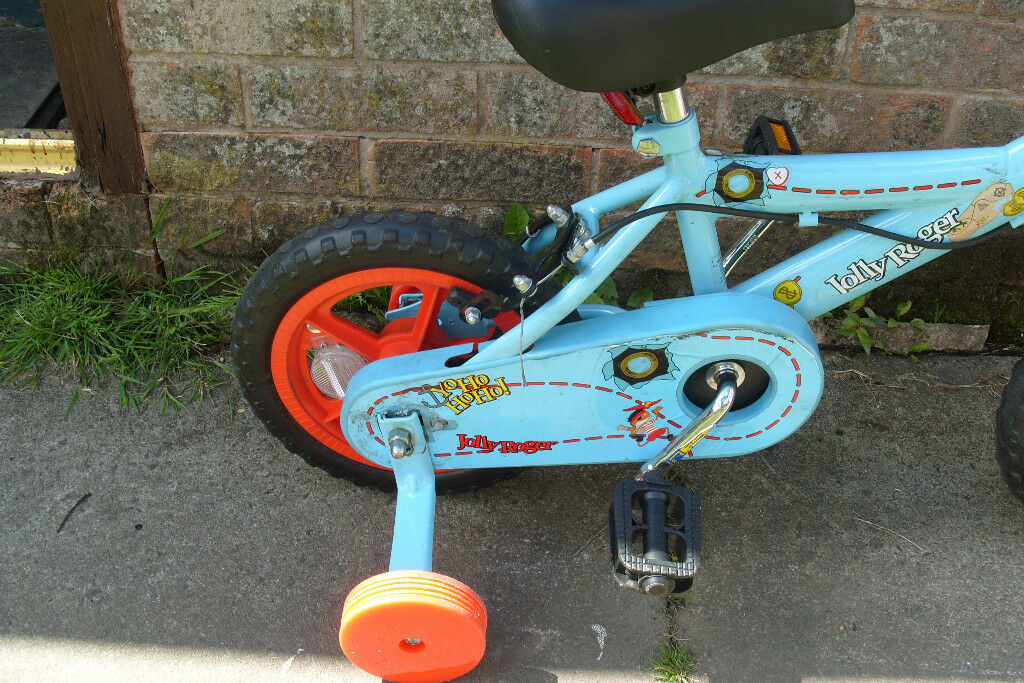Childs first bike/balance bike with stabilisers as new condition Jolly Roger brand