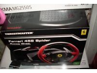 Thrustmaster Ferrari 458 Racing Wheel & Pedals set new XBOX ONE / PC