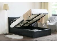 ⚡️⚡️⚡️EXPRESS DELIVERY⚡️⚡️⚡️BRAND NEW DOUBLE OTTOMAN STORAGE BED FRAME ( BLACK,BROWN & WHITE )