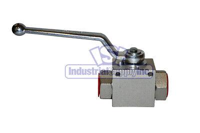 High Pressure Ball Valve Hydraulic 38 Steel Industrial Supply