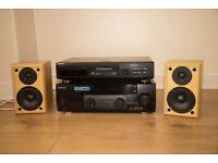 Kenwood KRF-V7030D Audio Video Dolby Surround Amplifier, Sony MDS J6330 Min Disc Play , Speaker