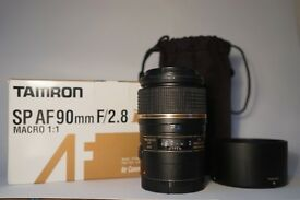 Tamron SP 90mm f/2.8 Di VC USD Macro 1:1 (Canon Fit) Lens
