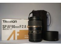 Tamron SP 90mm f/2.8 Di VC USD Macro 1:1 (Canon Fit) Lens