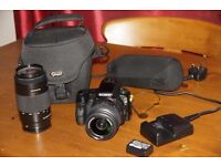 Sony digital photography kit, camera body a and two Sony branded zoom lenses