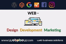 Website Design and Development, Social Media Marketing, Ecommerce, PPC, SEO, WordPress and Magento