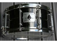 "PDP by DW Ace brass snare drum 14 x 6 1/2"" - Black nickel - Ludwig Black beauty homage"