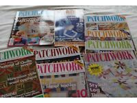 patchwork/quilting mags