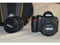 camera. Nikon D40X with 55 and 200mm lenses.
