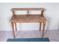 DELIVERY OPTIONS - RUSTIC LOOKING SOLID PINE WRITING DESK WITH TURNED LEGS