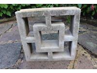 Used Concrete fence blocks