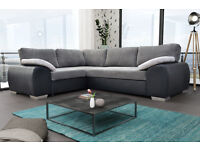 BRAND NEW ENZO SOFA BED, AVAILABLE IN FULL LEATHER/ LEATHER AND CORD FABRIC**UK DELIVERY AVAILABLE