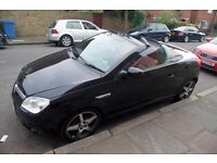 """Vauxhall Tigra 1.4 i 16v Exclusiv 2dr - Black Convertible (18"""" Alloys, Red Leather)"""