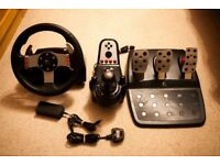 Logitech G27 Steering wheel, pedals and gearstick