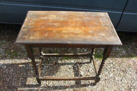 Vintage small Oak barley twist side table shabby chic potential restoration project