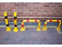 Heavy Duty Bollard Bolt or Concrete Set Fold Down Post Security Parking Driveway