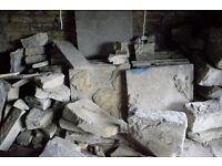 yorkshire stone plus concrete paving