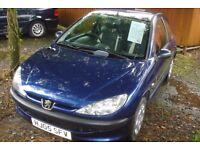 Peugeot 206 2005-05-PLate 122000 miles