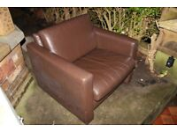 FREE Brown faux leather armchair