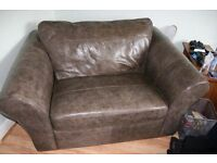 Next two seater leather chair / sofa.