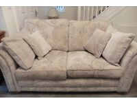 Three seater sofa,two seater sofa and Footstool in Excellent condition