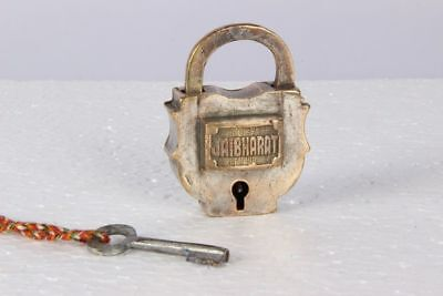 Vintage Collectible Brass Casting Indian Local Brand Pad Lock