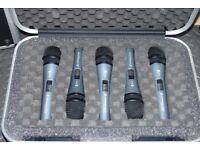 Sennheiser E-815-S Microphone, Set of 5 Mics in Travel Case