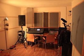 Music Rehearsal Studio in Portslade, Brighton. Practise room, recording and mix space.