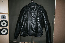 SkinTan Armoured Leather Bikers Jacket. XL