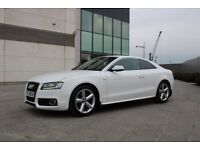 2009 AUDI A5 2.0 TFSI S LINE AUTOMATIC 210BHP TOP Spec Ed S Tronic ALPINE WHITE