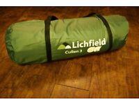 Lichfield Cullen 3 tent (2-3 persons)