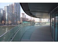 Extremely hiuge terrace over the dock - luxury 3bed property -Canary Wharf - E14 + gym + pool! JS
