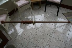 Curtain Pole. Wooden. 75ins.