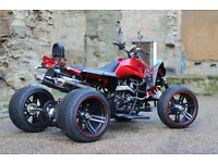 EX DEMO 2016 250CC RED ROAD LEGAL QUAD BIKE ASSEMBLED IN UK CAN DELIVER THIS WEEK