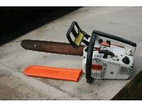 Petrol Stihl 020 av super top handle chainsaw