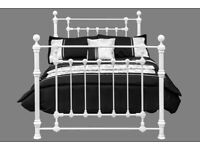 Victorian Double 4ft 6 White Bed Frame (New) Free Delivery