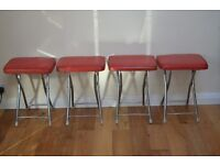 Retro vintage folding stools / chairs (Set of 4).