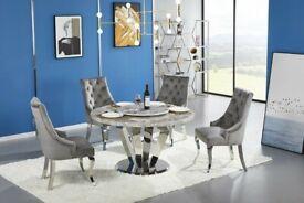 Venezia Marble Round Dining Table 1.3 M BRAND NEW
