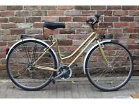 Immaculate Classic style French Pyrenea ladies bike from France. Nearly new with NEW tyres