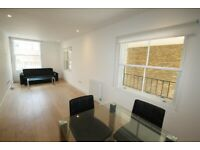 2 bed furnished flat, canal side warehouse conversion, walk to stations, shops & Canary Wharf