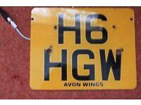 honda goldwing plate