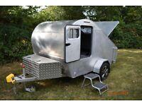 Premium Build 'One Off' Teardrop Trailer / Caravan (Kingsize Bed) - Polished Aluminum