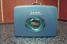 ALBA personel stereo cassette player cp705