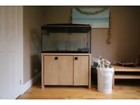 Fluval Roma 200 Tank with Oak Cabinet