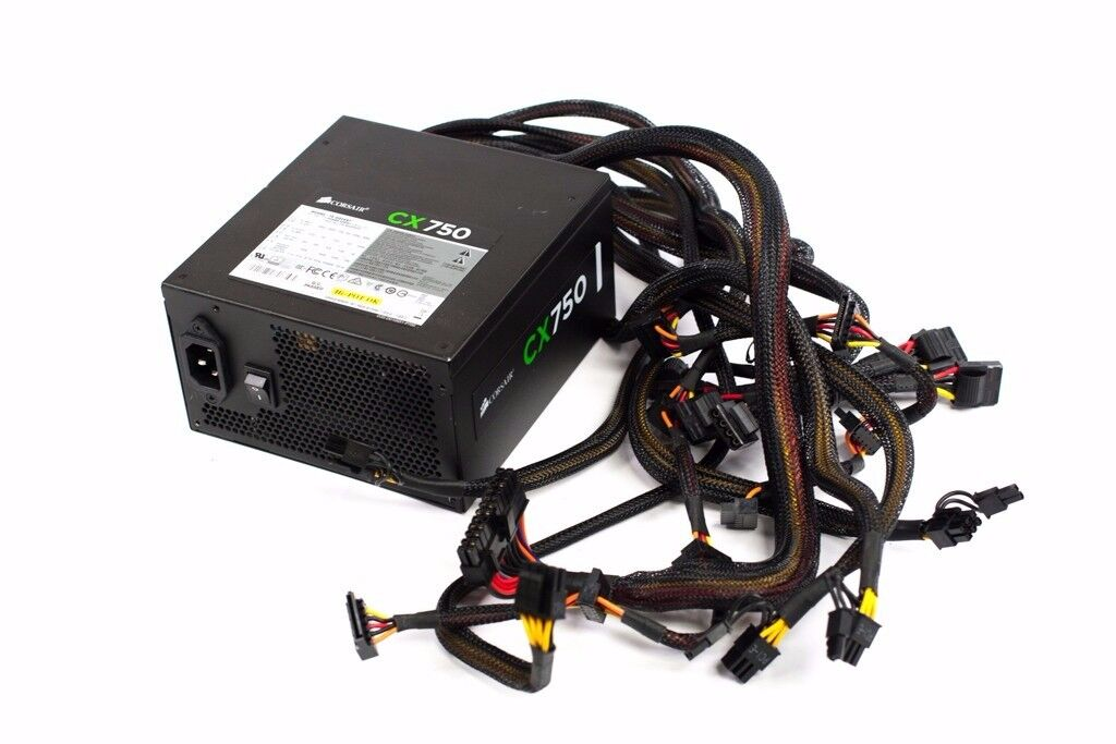 Corsair cx750 power supply 4 x 8 pcie and lots of other connectors