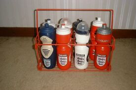 Water bottle carrier & bottles