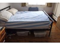 Double Bed black frame
